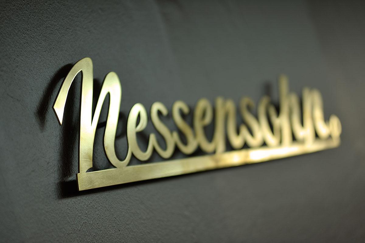 Modehaus Nessensohn in Wangen - Schriftzug